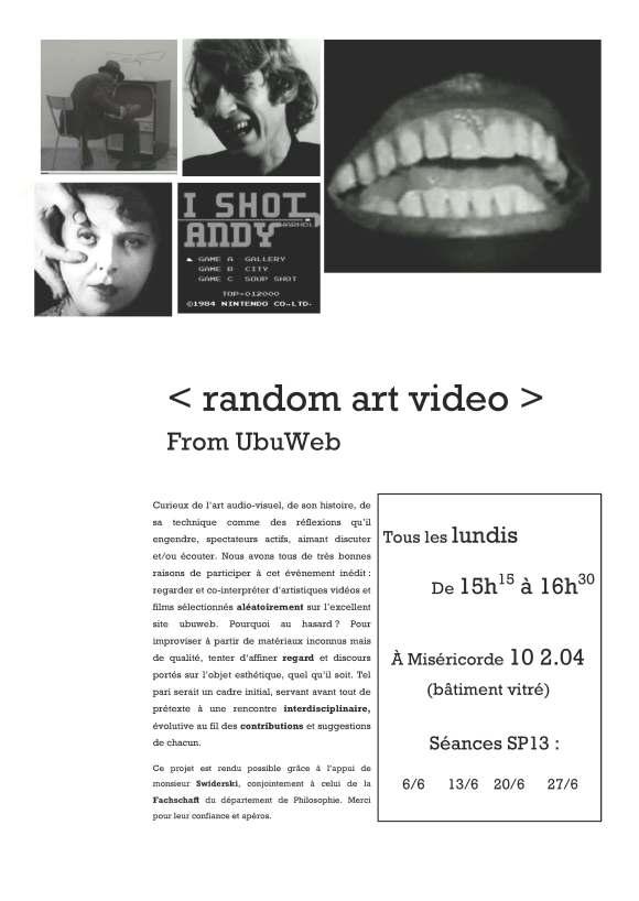Random Art Video_affiche